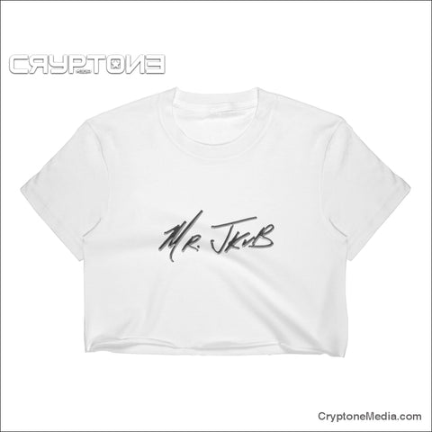 Mrjkub Chrome Logo Sig 2019 Womens Crop Top White / S