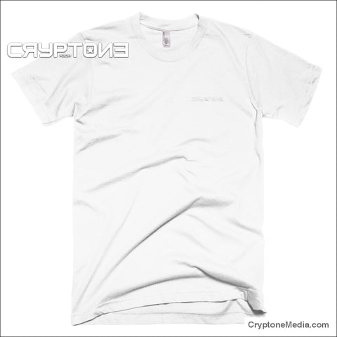 Embroidered Cryptone Media Logo T-Shirt White / S