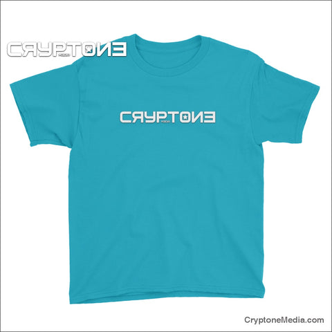 Cryptone Media Logo Youth Short Sleeve T-Shirt Caribbean Blue / Xs
