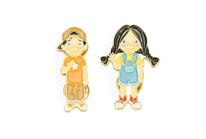 Meg and Mike Pin Set