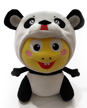 Official Panda Dino Doll