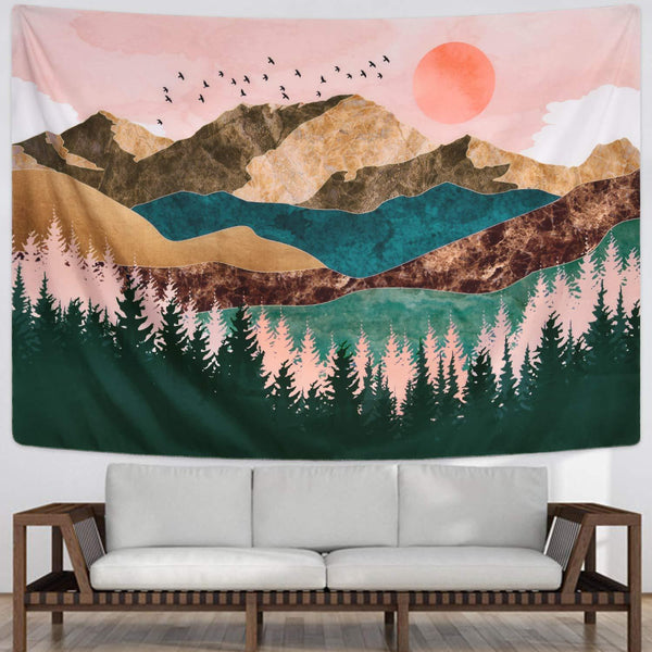 Sunset Mountain Tapestry