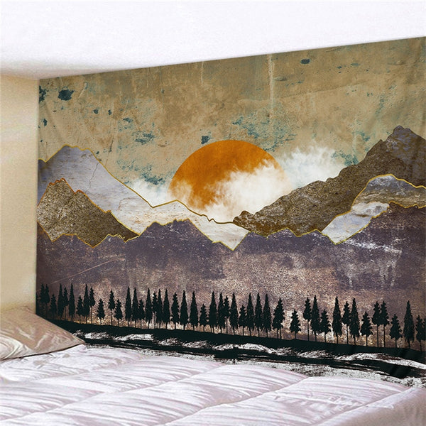 Abstract Mountain Tapestry