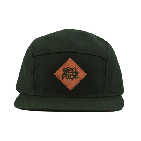 Green 5-Panel Patch Snapback