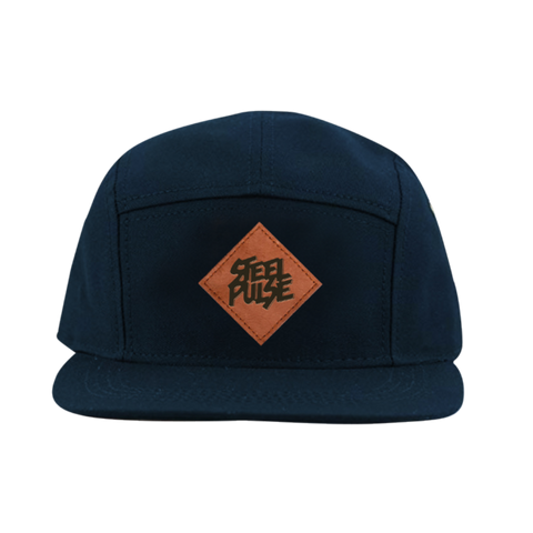 Navy 5-Panel Patch Snapback
