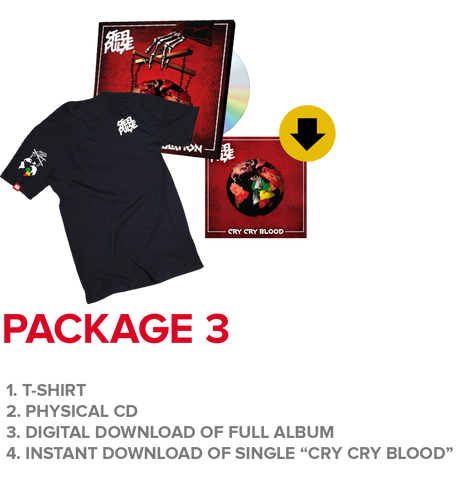 "Package 3: T-Shirt + CD + Instant Download Of ""Cry Cry Blood"" Single"