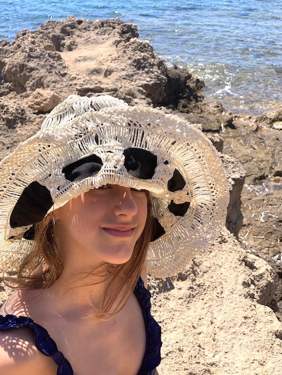 "Cappello ""Pamela"" all'uncinetto"