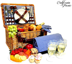 Luxury and charm in a picnic basket