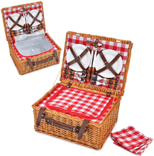 Pacific Insulated Picnic Basket Set | 4 Person Service