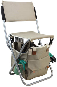 Vernon Gardening Tool Set | Folding Stool Chair