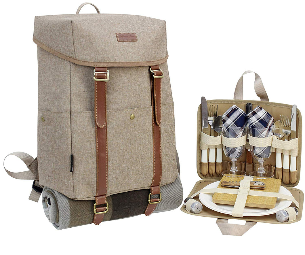 CALIFORNIA PICNIC CP Cooler Backpack Brown