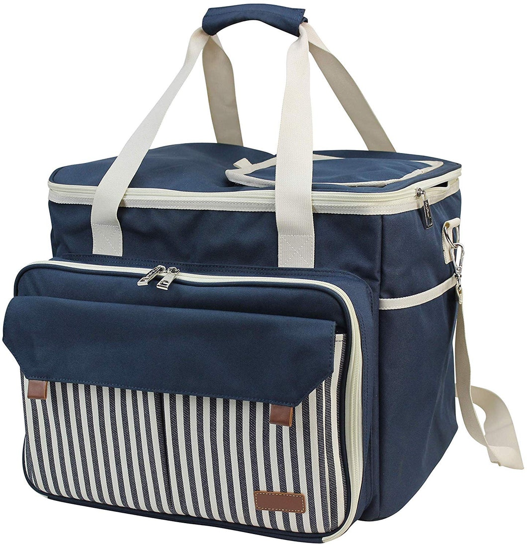 Opus Picnic Tote Blue | 4 Person Service