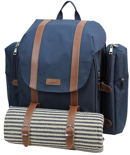Sequoia Picnic Backpack Blue | 4 Person Set
