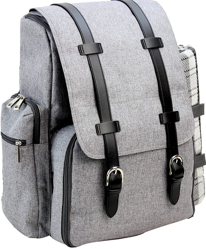 Montana Picnic Backpack Set Grey | 4 Person Service