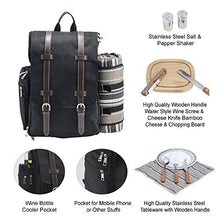 Montana Picnic Backpack Set Black | 2 Person Service