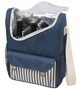 Berkeley Wine Tote Blue | 2 Person Service