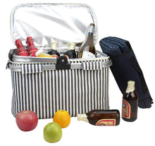 Insulated Picnic Tote and Picnic Blanket Set