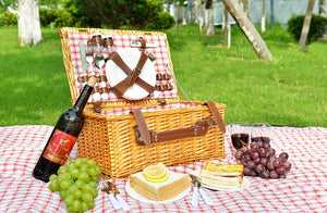 Fairfax Picnic Basket Set | 4 Person Service