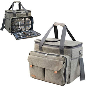 Opus Picnic Tote Brushed Khaki | 4 Person Service