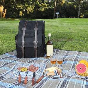 Montana Picnic Backpack Set Black | 4 Person Service