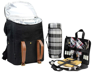 Rodeo Picnic Cooler Backpack Black