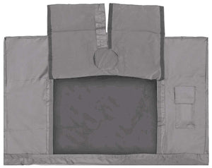 Outdoor TV Cover Grey 55 - 58 Inch LED Flatscreen TV With Bottom Cover