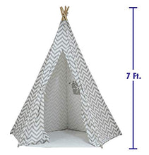 Large Chevron Pattern Teepee Tent 7 Ft.