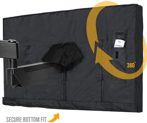 Outdoor TV Cover Black | 60 Inch