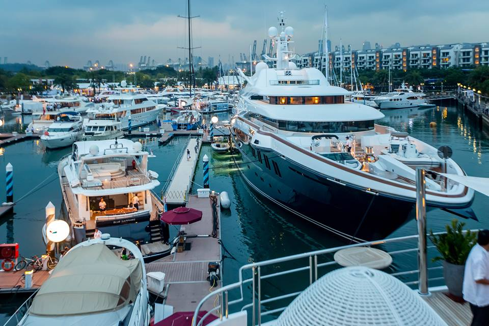 yachts at Singapore Yacht Show