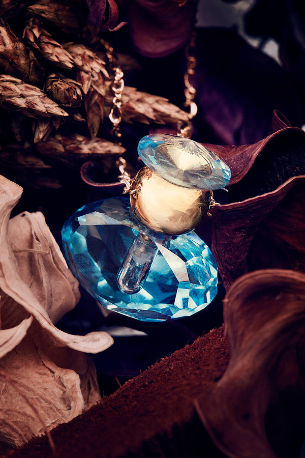 blue crystal pendant necklaces