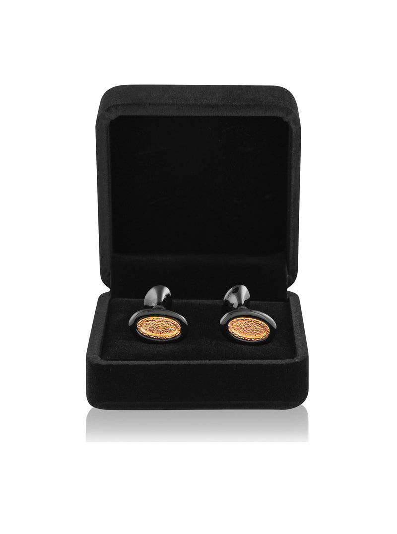 Designer rose gold oval cufflinks