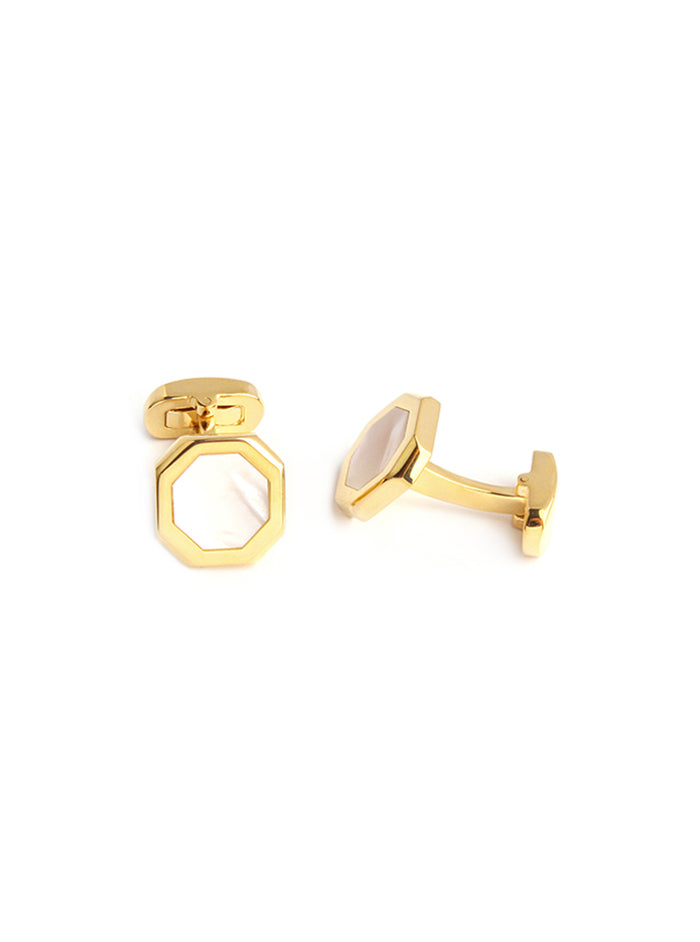 designer men's hexagonal cufflinks
