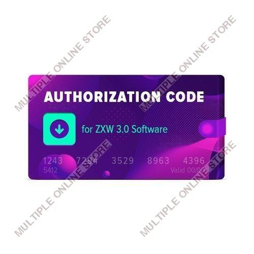 Authorization Code for ZXW Software - MULTIPLE ONLINE STORE