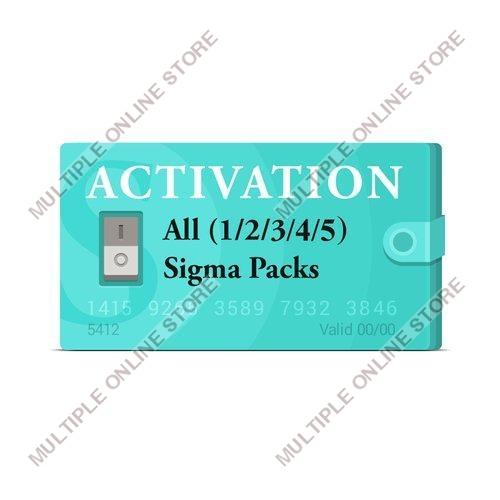 Sigma Pack 1 + Pack 2 + Pack 3 + Pack 4 + Pack 5 Activation - MULTIPLE ONLINE STORE