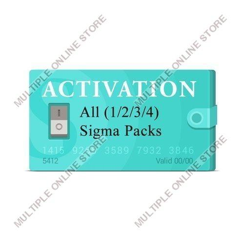 Sigma Pack 1 + Pack 2 + Pack 3 + Pack 4 Activation - MULTIPLE ONLINE STORE