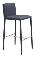 CONFIDENCE COUNTER CHAIR BLACK SET OF 4