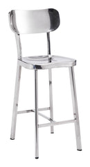 WINTER COUNTER CHAIR STAINLESS STEEL SET OF 2