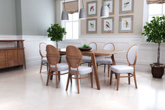 REGENTS DINING CHAIR WALNUT & LIGHT GRAY SET OF 2