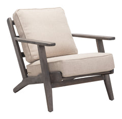 TAHOE LOUNGE CHAIR BEIGE & DARK BROWN