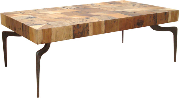 MONTE COFFEE TABLE WITH METAL LEGS