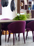 NEWBOROUGH DINING CHAIR PURPLE