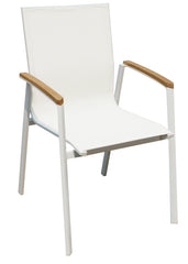 DAVIDE OUTDOOR CHAIR  WHITE SET OF 4