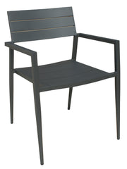 VENICE OUTDOOR DINING ARMCHAIR DARK GREY SET OF 4