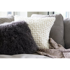 LAMB FUR PILLOW RECTANGLE