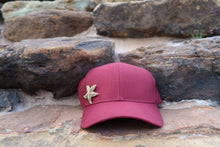 Maroon Hat w/ Gold Starfish