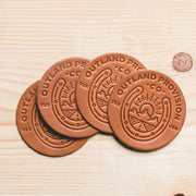 Leather Coaster Set - Outland Provisions