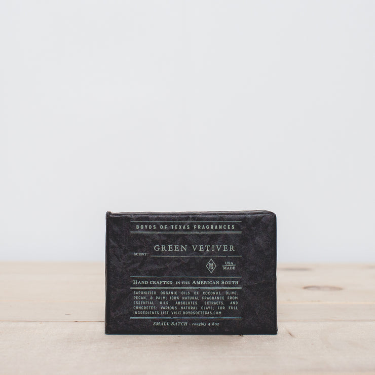 Green Vetiver Charcoal Bar Soap