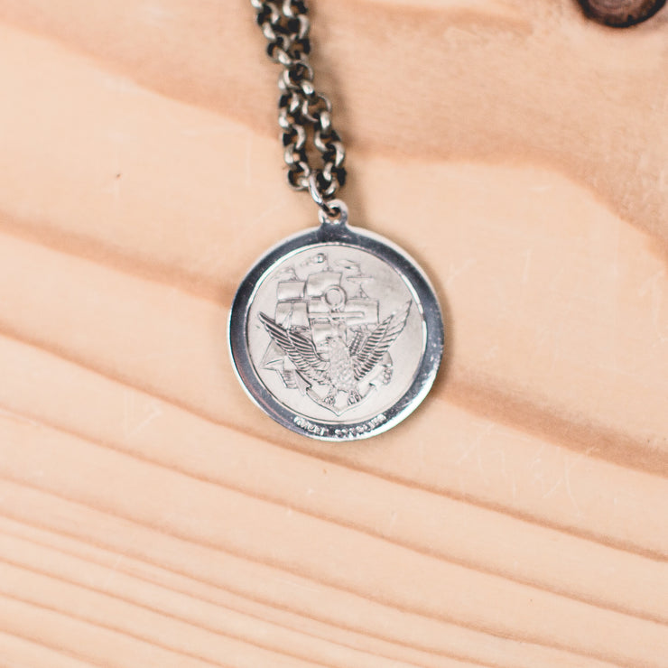 """Land, Sea, and Air"" Saint Christopher Necklace-Circa WWII"