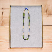 Montagnard Necklace - Green/Olive/Cream/Lapis