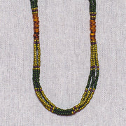 Montagnard Necklace - Green/Olive/Amber